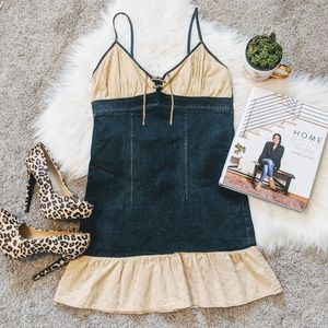 Vintage | denim eyelet bodycon dress
